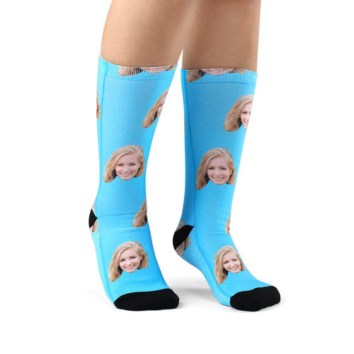 Custom Face Photo Socks - Unisex