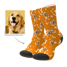 Photo Socks, Custom Dog Face Socks - Unisex