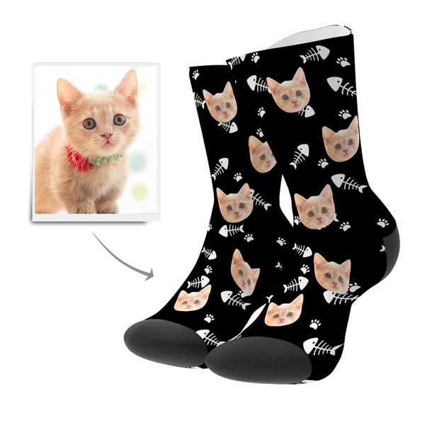 Custom Cat Photo Socks - Unisex