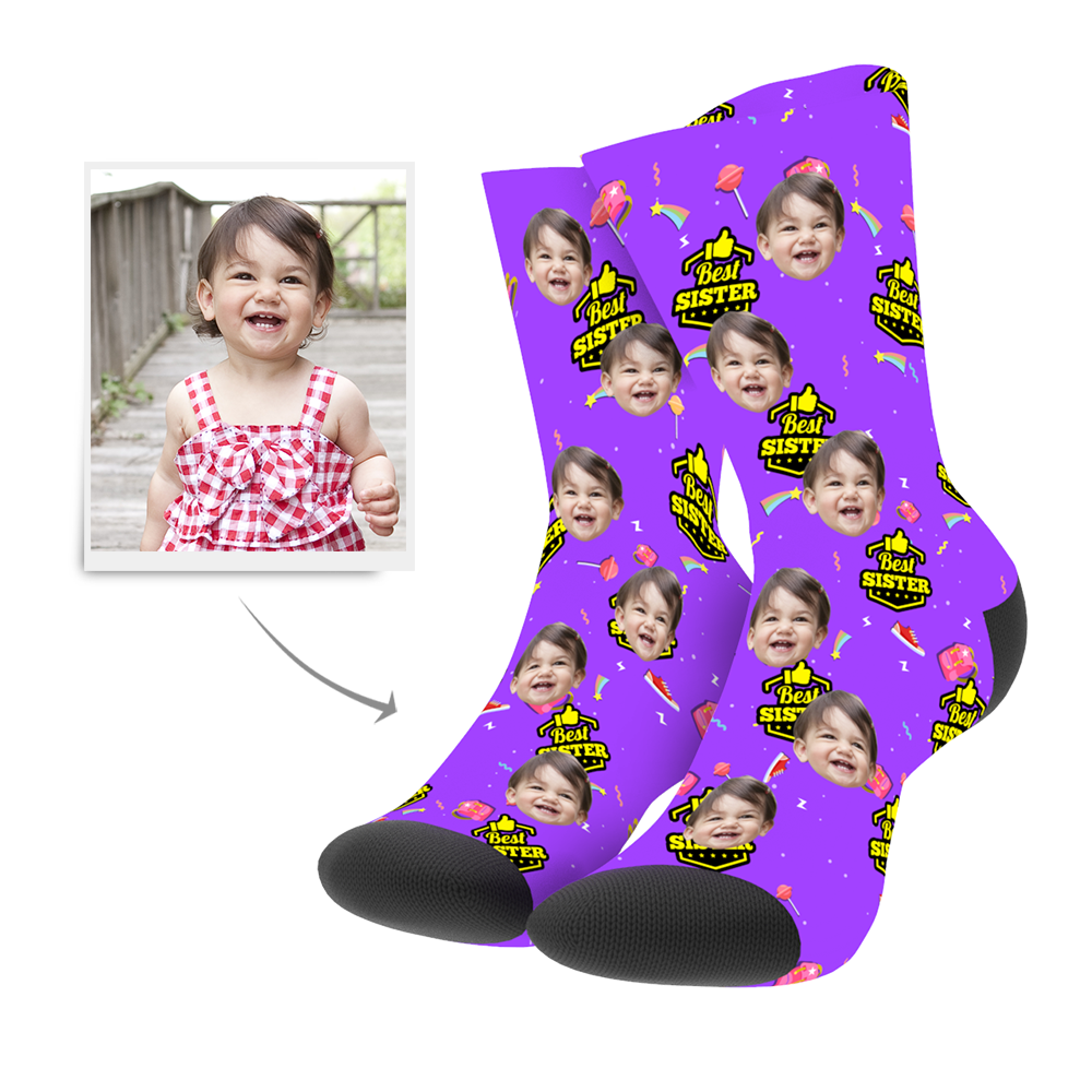 Custom Best Sister Socks - Unisex