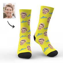 Custom #1 Grandma Photo Socks - Unisex