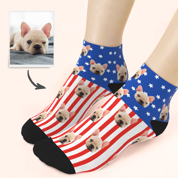 Custom National Flag Ankle Socks - Unisex
