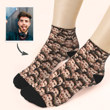 Custom Boyfriend Face Ankle Socks - Unisex