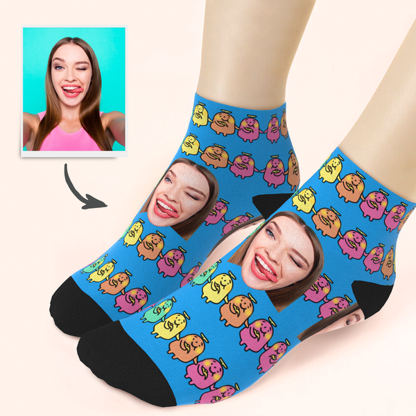Custom Cute Banana Ankle Socks - Unisex