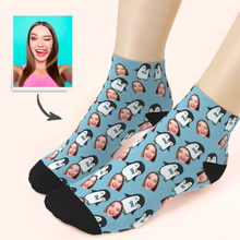 Custom Cute Penguin Ankle Socks - Unisex
