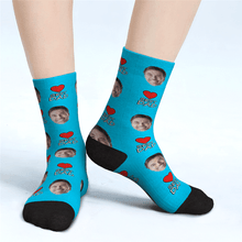 Custom Face Socks Best Dad Gifts For Dad - Unisex