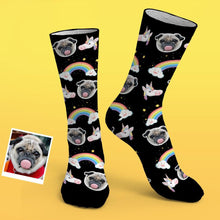 Custom Photo Socks Cute Funny Unicorn Socks