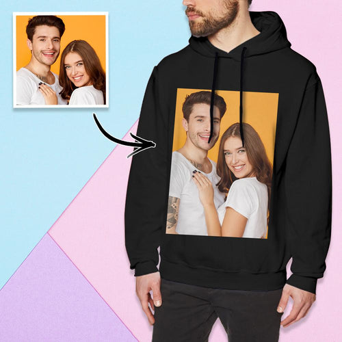 Custom Long Sleeve Photo Pullover Hoodie Men's Hoodie Sweatshirt Sweet Lovers