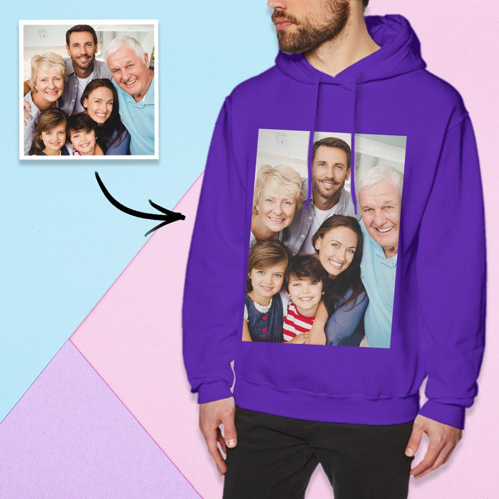 Custom Long Sleeve Photo Pullover Hoodie Men's Hoodie Sweatshirt Family Photo