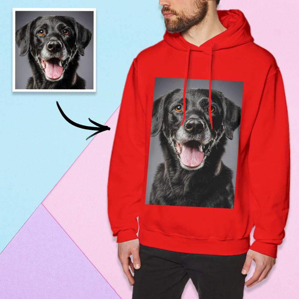 Custom Long Sleeve Photo Pullover Hoodie Men's Hoodie Sweatshirt Dog Photo