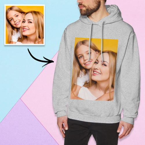 Custom Long Sleeve Photo Pullover Hoodie Men's Hoodie Sweatshirt Mother And Daughter