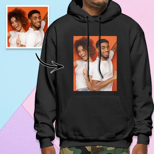 Custom Long Sleeve Photo Pullover Men's Hoodie Sweatshirt Sweet Lover