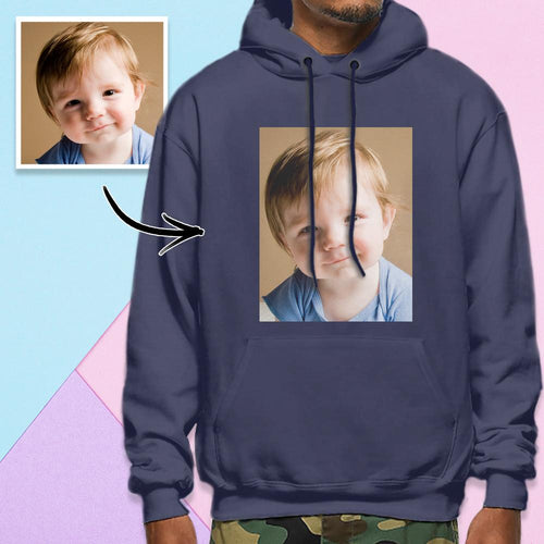 Custom Long Sleeve Photo Pullover Men's Hoodie Sweatshirt Baby Photo