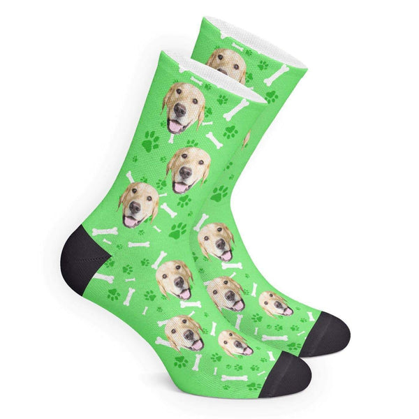 Custom Dog Photo Socks - Unisex