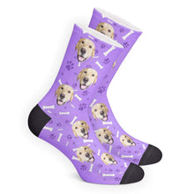 Custom Dog Face Photo Socks - Unisex