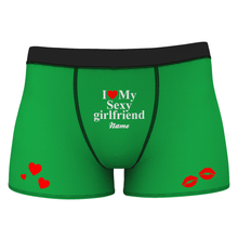 Men's Custom Love My Sexy Girlfriend Boxer Shorts
