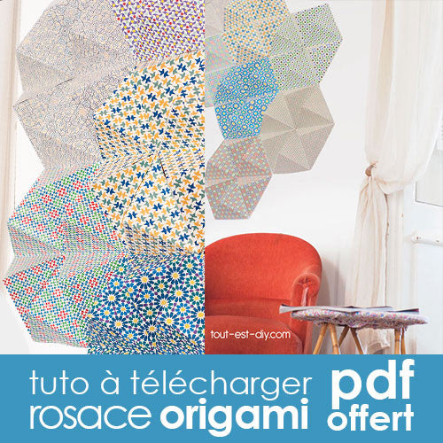 tuto rosace origami d coration murale diy tout est diy. Black Bedroom Furniture Sets. Home Design Ideas
