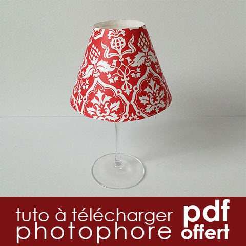 Tuto DIY gratuit photophore déco de table