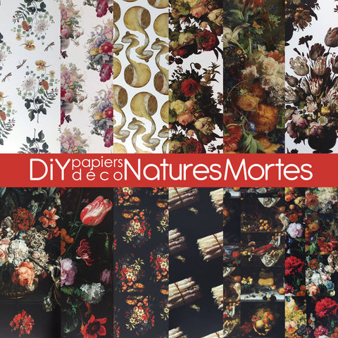 "DiY déco - Papiers ""nature morte"""
