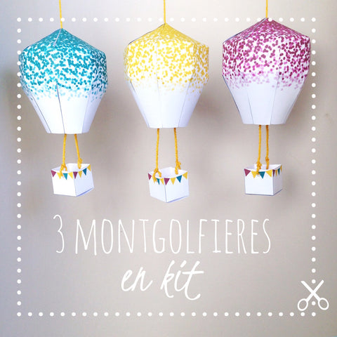 DiY kids - Mobile montgolfières en kit - Confetti