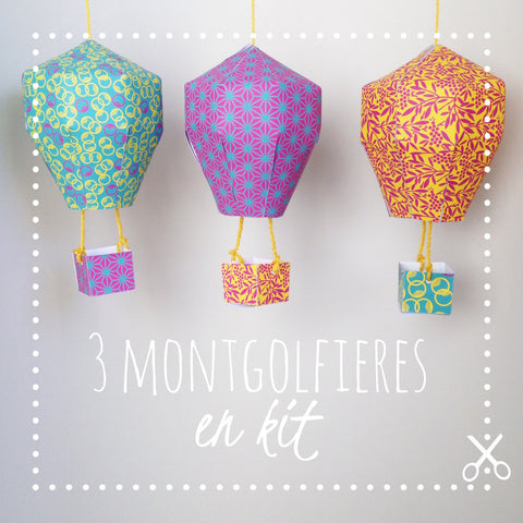 DiY kids - Mobile montgolfières en kit - Japon