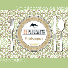 DIY déco de table, set de table en papier arabesques