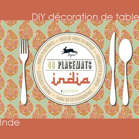 DiY déco de table - Inde