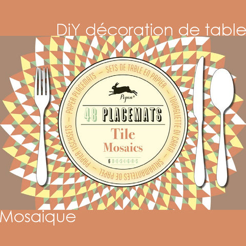 DiY déco de table - Mosaique