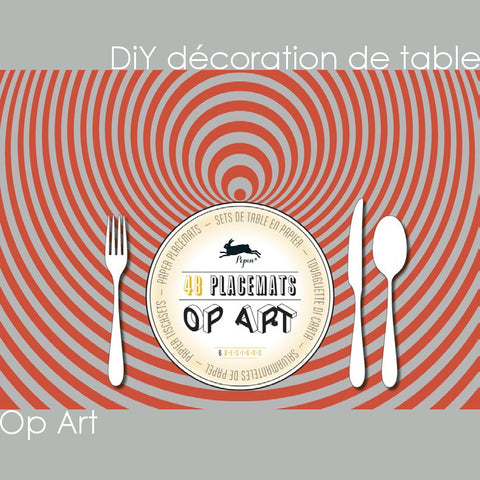 DiY déco de table - Op Art