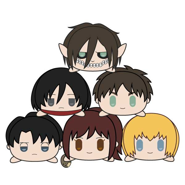 Attack On Titan Mochibi - Full Base Set