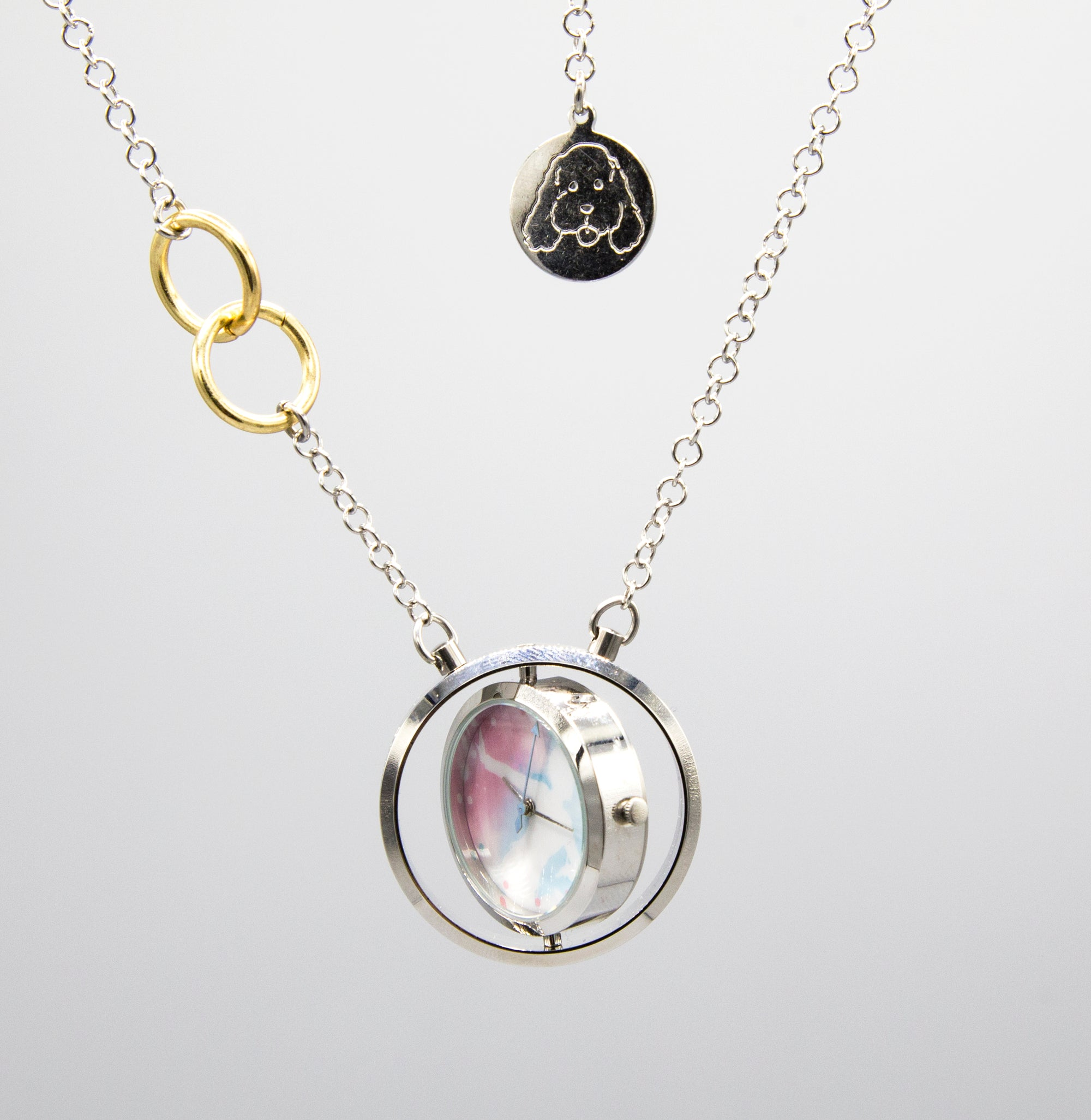 Yuri On Ice Spinning Necklace Watch
