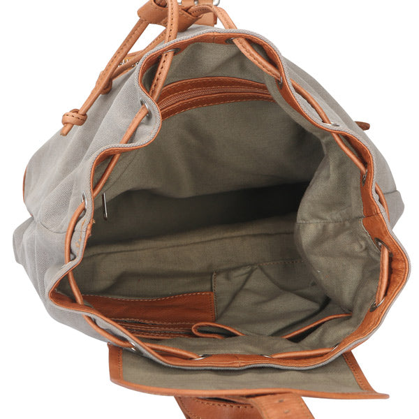 Women's Leather Sling Backpack Bag