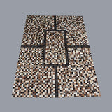 Handmade Genuine Hairon Leather Cowhide Patchwork Carpets
