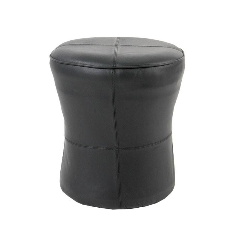 Leather upholstery full cover stool - Deszine Talks
