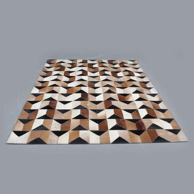 Handmade Genuine Hairon Leather Cowhide Patchwork Carpets - Deszine Talks