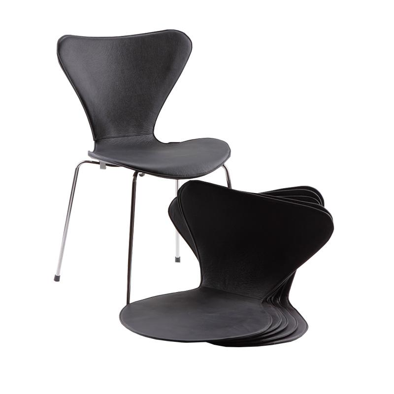 Leather covers for Arne Jacobsen's 3107/3207 chairs  (6) - Deszine Talks