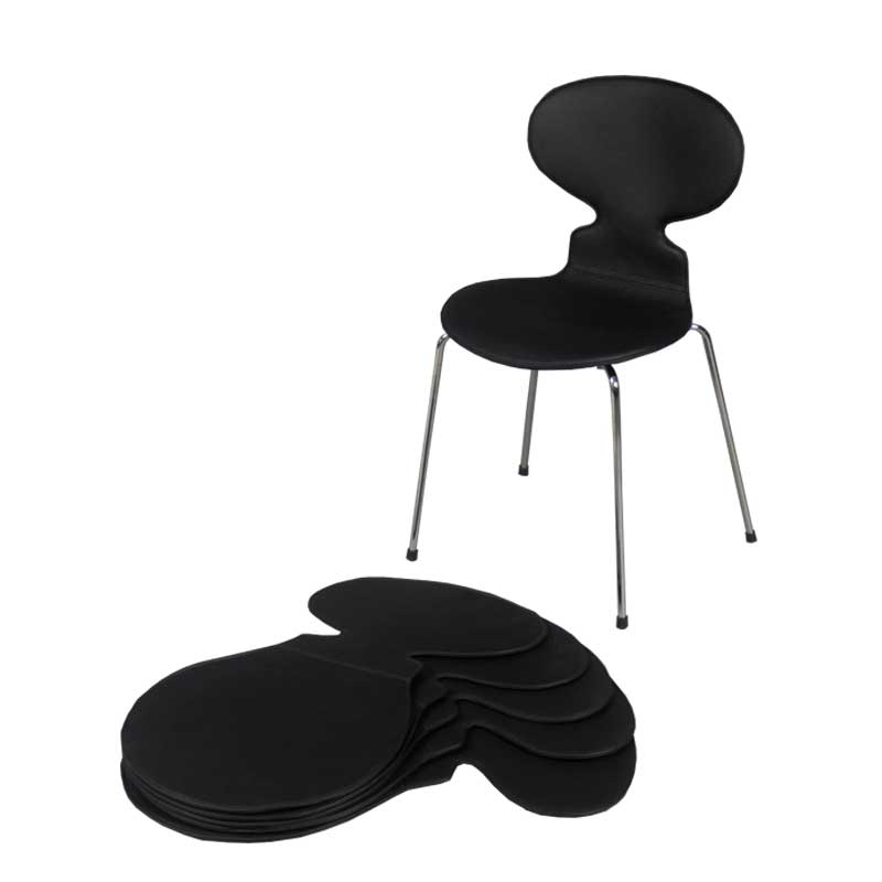 Leather Six Chair Covers for Arne Jacobsen's Ant chairs 3101