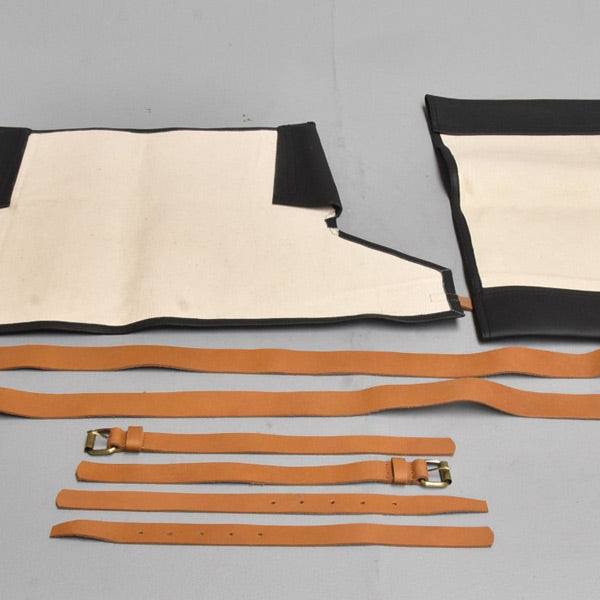 Leather replacement kit and leather straps for the safaristol chair