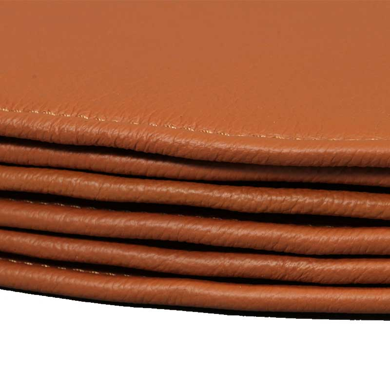 Leather Six cushions for Arne Jacobsen's Astole model 3107/3207 (7éren)