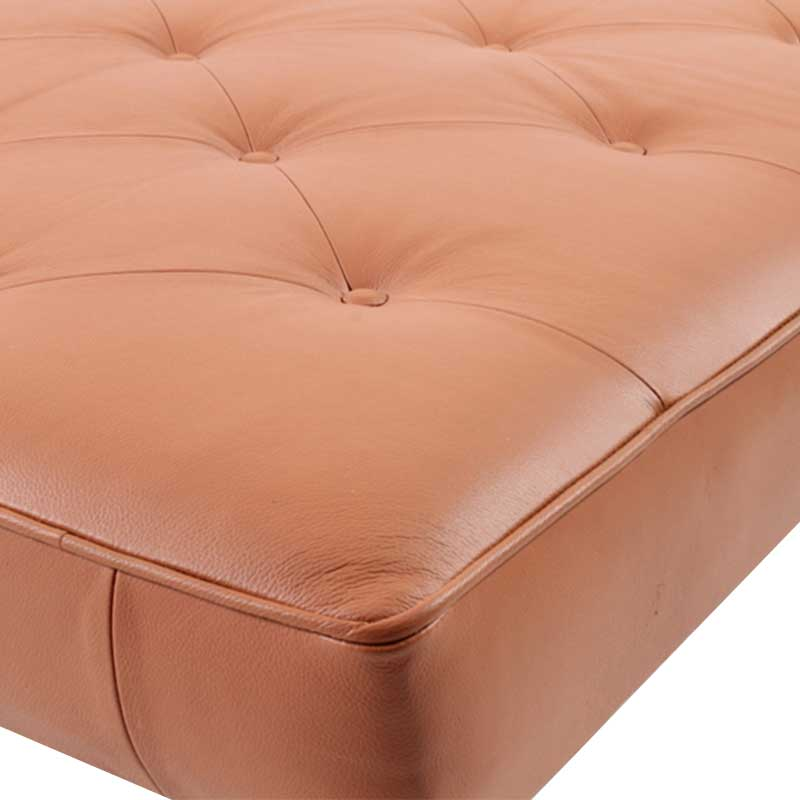 Daybed in Tan color Leather with wooden Legs - Deszine Talks