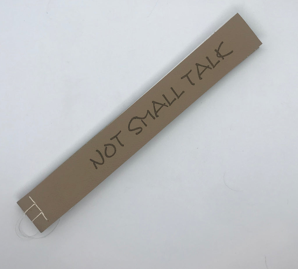 """Not Small Talk"" Artists Book"