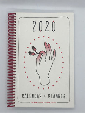 2020 calendar & planner (for the novice kitchen witch)