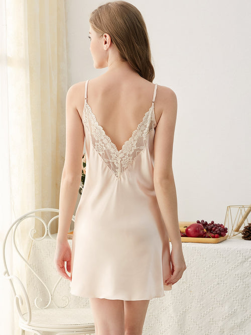 Lace And Satin Cami Night Dress