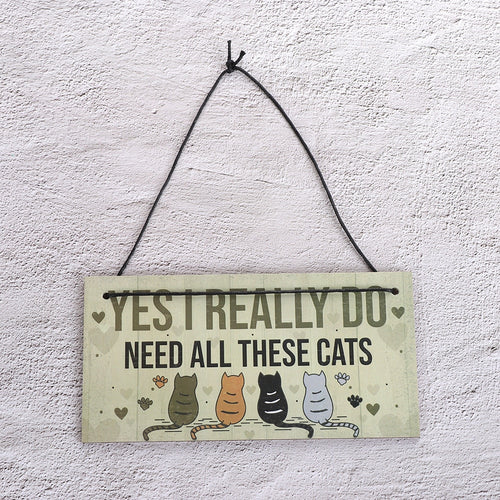 Cute Cats Hanging Plaques, Funny Novelty
