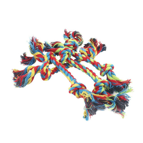 Dog Toy, Double Knot, Cotton Rope Braided