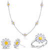 3 Piece Gold Daisy Flower, Jewelry Set
