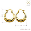 French Lock Hoop Earring in 18K Gold