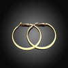 42mm Flat Hoop Earring in 18K Gold