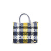 Small Yellow and Blue Tote Bag