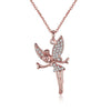 18K Rose Gold Swarovski Crystals Flying Angel